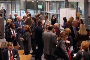 Public and professional networking at the Rare Disease day at Senedd.