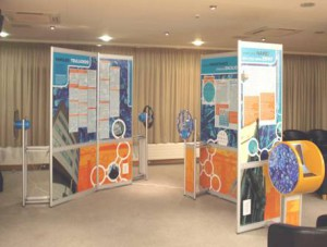 Mobile exhibition at the Welsh Assembly